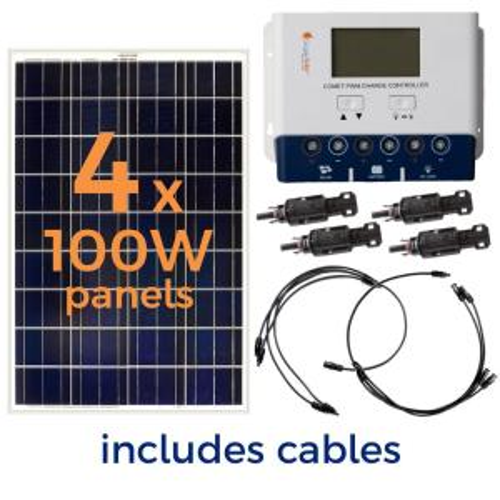 Grape Solar 400-Watt Off-Grid Solar Panel Kit-GS-400-KIT - The Home Depot