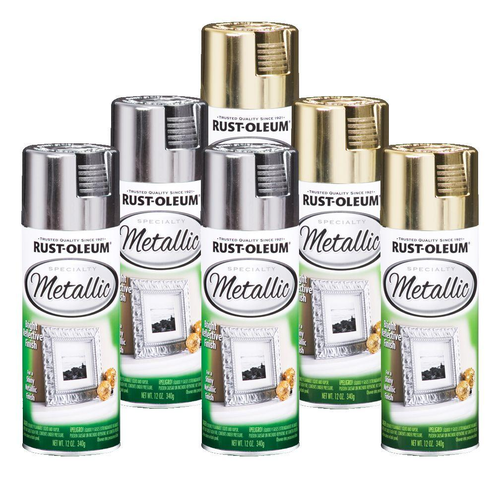 Rust-Oleum 6-Piece 12 oz. Christmas Metallic Spray Paint Collection-DISCONTINUED