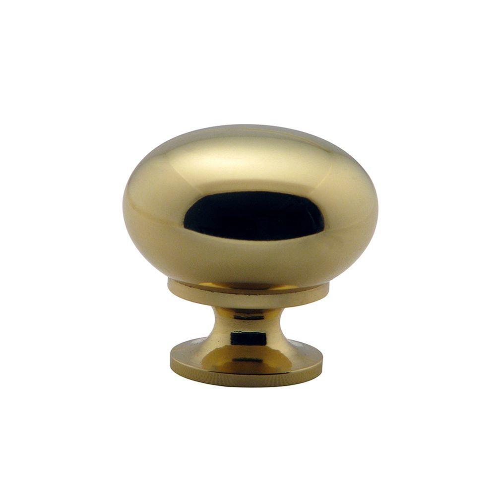Richelieu Hardware 1-1/4 in. (32 mm) Brass Traditional Brass, Hollow Metal Cabinet Knob