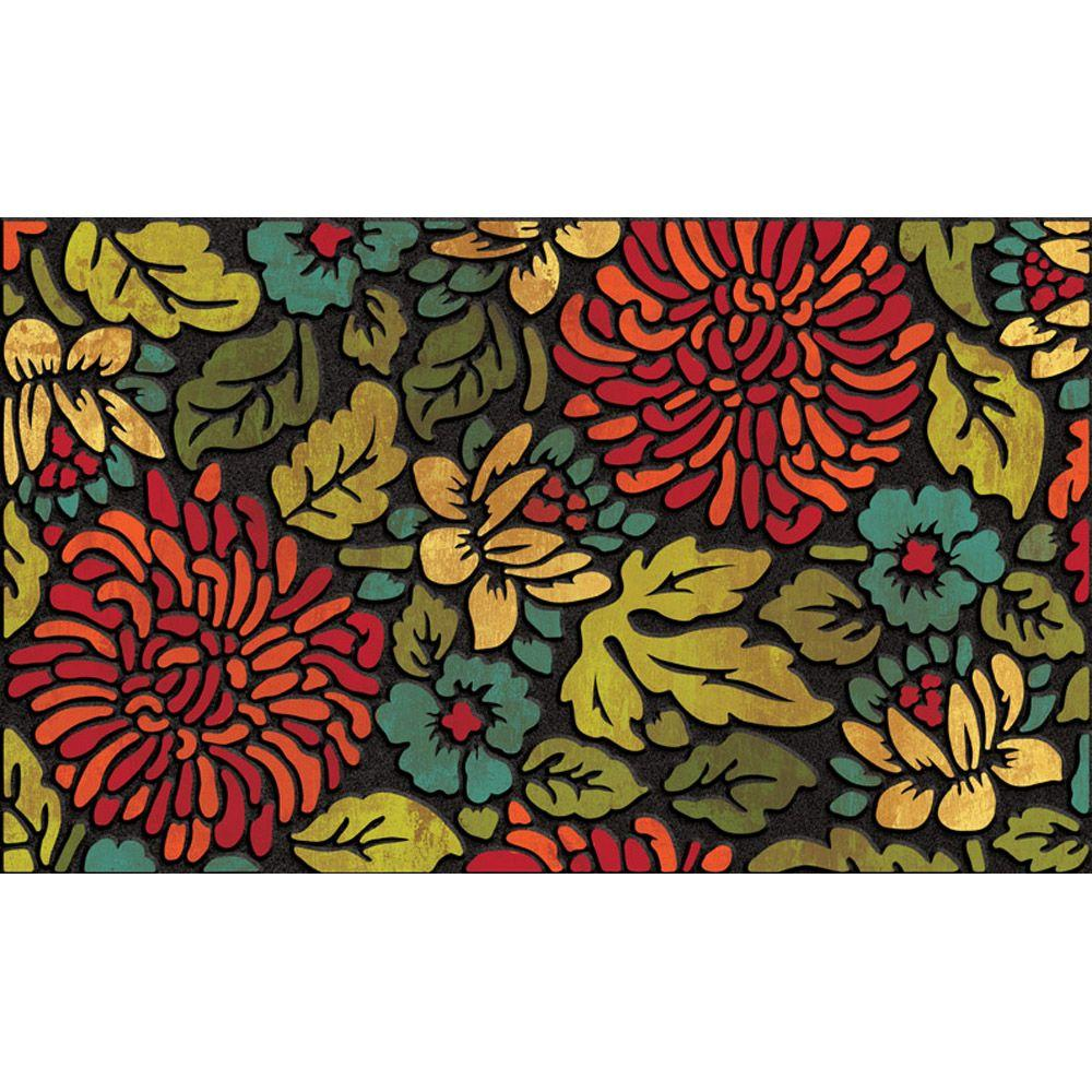 Apache Mills Contemporary Bloom 18 in. x 30 in. Recycled Rubber Door Mat