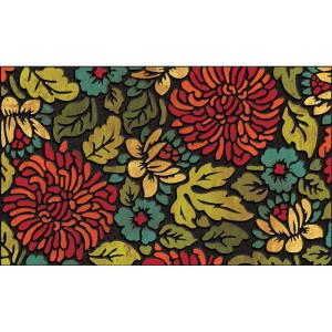 Apache Mills Contemporary Bloom 18 inch x 30 inch Recycled Rubber Door Mat by Apache Mills