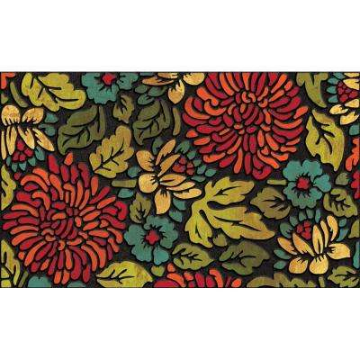 Contemporary Bloom 18 in. x 30 in. Recycled Rubber Door Mat