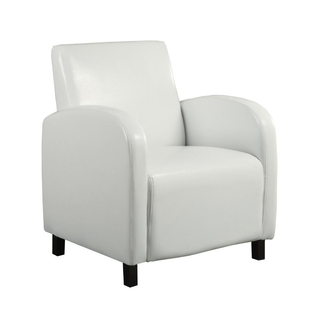 Jasmine White Foam Accent Chair