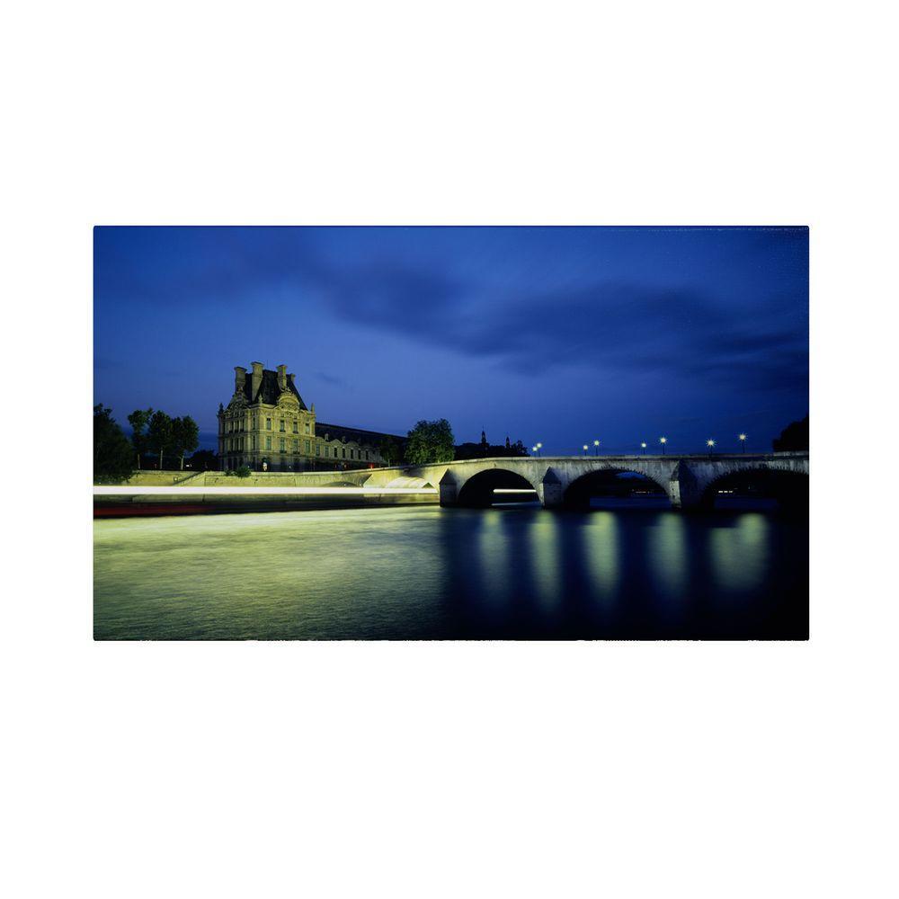 Trademark Fine Art 10 in. x 19 in. Louvre Canvas Art