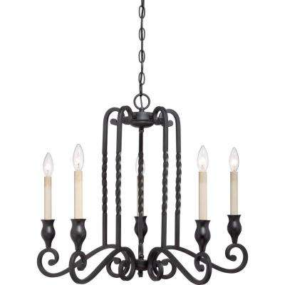 Atrium 5-Light Mystic Black Chandelier