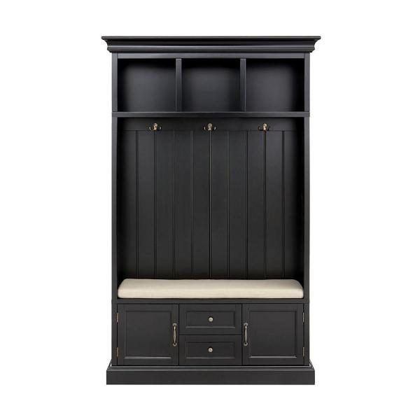 Home Decorators Collection Royce Black 49 in. Hall Tree SK19075R1-BK