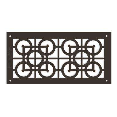 Frank Lloyd Wright Collection Luxfer Lattice Major Grille 6 in. x 14 in. Aluminum Antique Bronze Finish