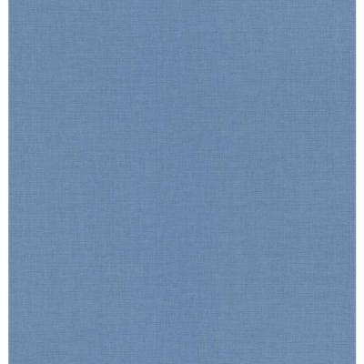 Blue Linen Texture Wallpaper Sample