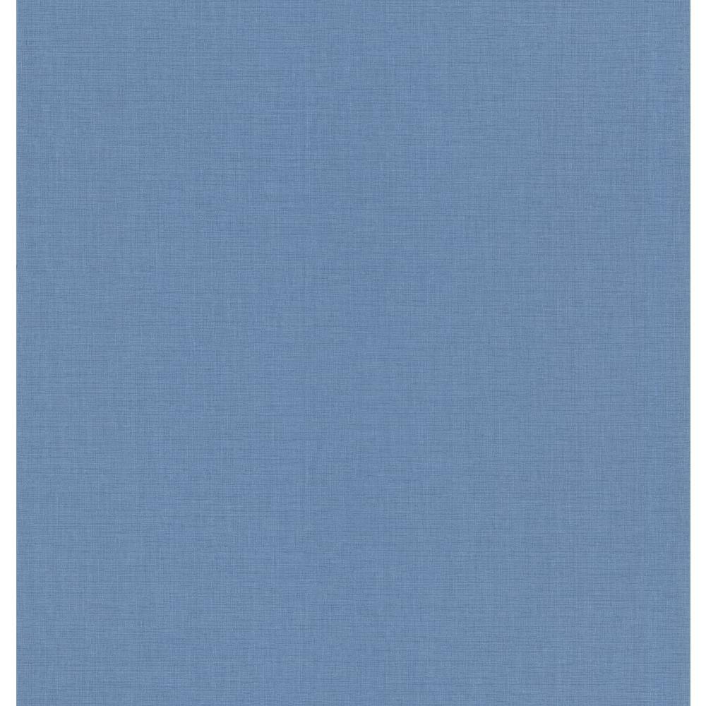 Blue Linen Texture Wallpaper Sample