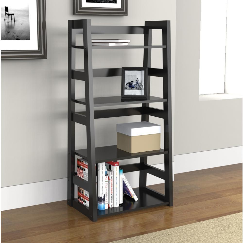 Black Trestle Bookcase