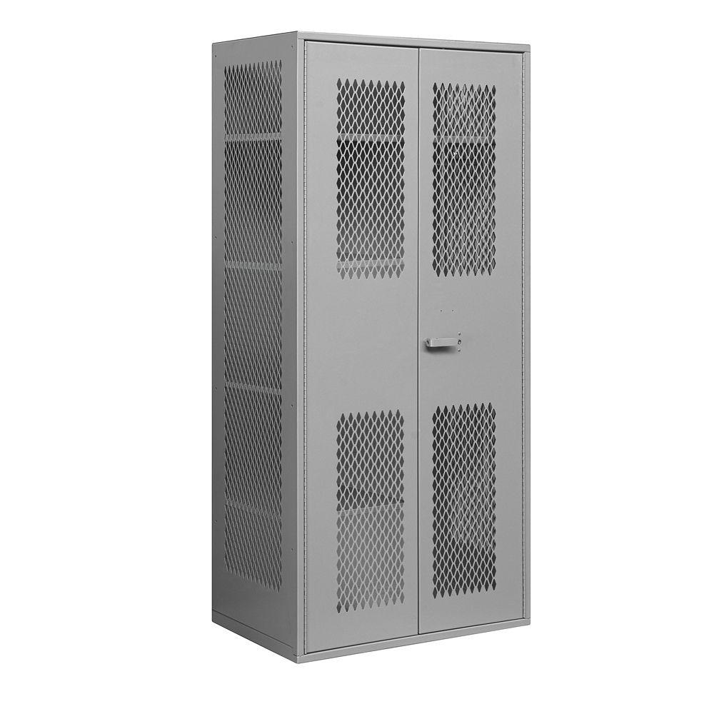 Salsbury Industries 7155 Series 36 in. W x 78 in. H x 24 in. D Military Combination Storage Cabinet in Gray
