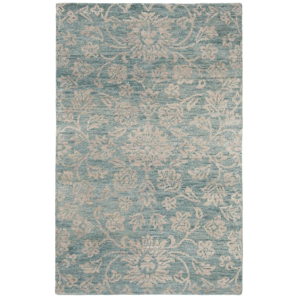Home Decorators Collection Yves Teal Grey 2 Ft X 3 Ft Area Rug 9625000330 The Home Depot