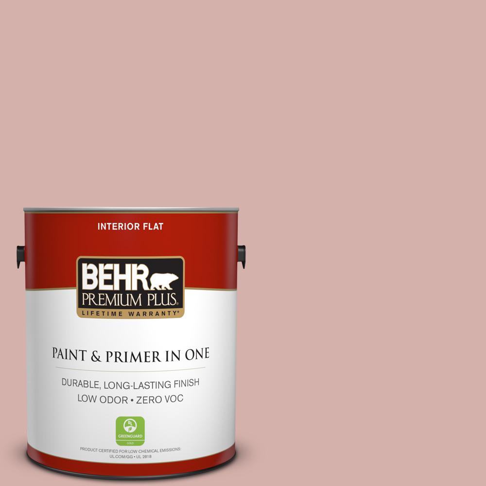 BEHR Premium Plus 1-gal. #S170-3 Castilian Pink Flat Interior Paint