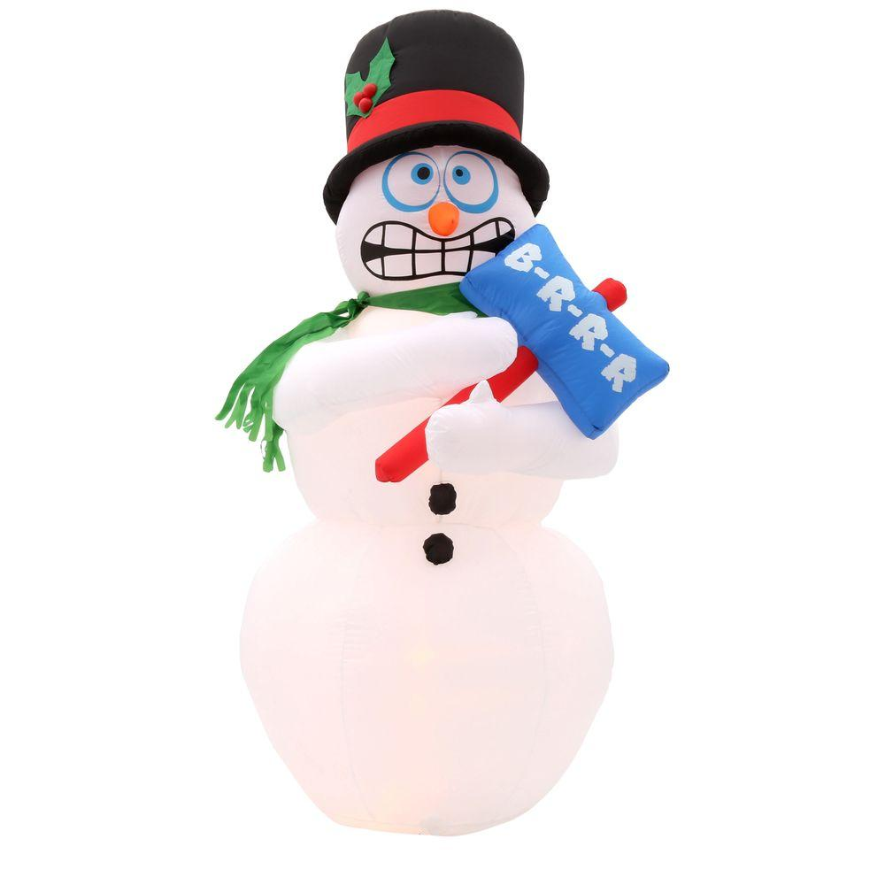 Home accents holiday ft h inflatable animated shivering