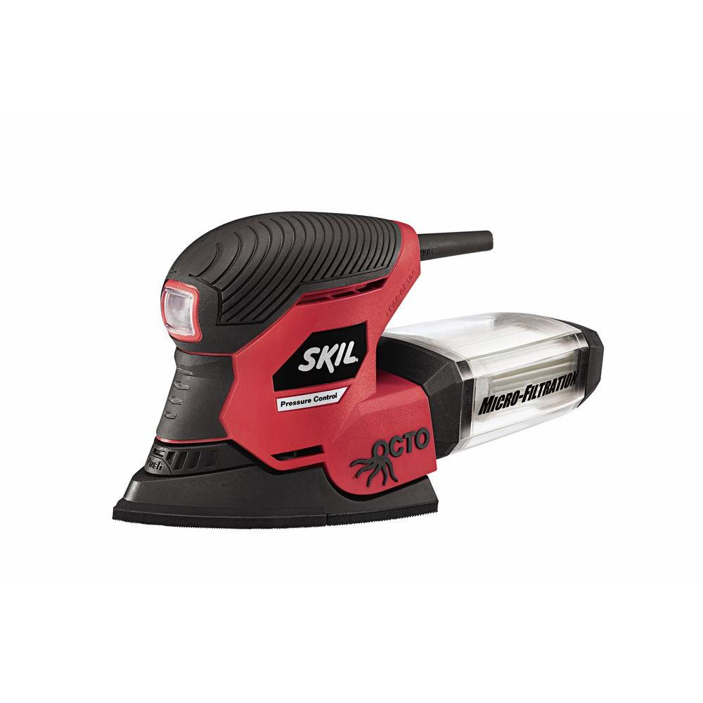 Skil Factory Reconditioned Corded Electric Octo Detail Sander Kit with Pressure Control