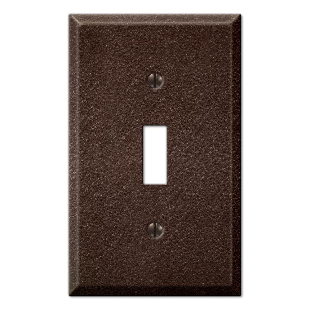 Creative Accents Steel 1 Toggle Wall Plate - Antique Copper-DISCONTINUED