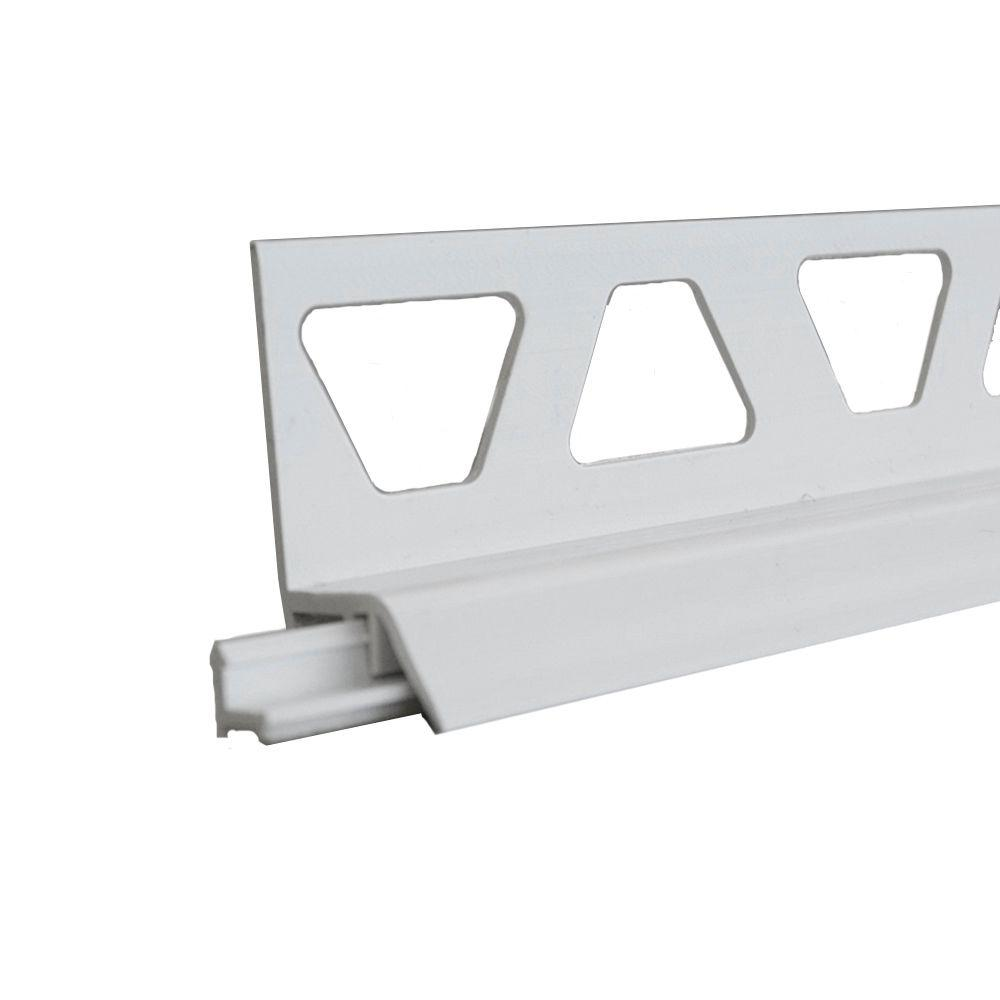 Schluter Dilex-AS Bright White 11/32 in. x 8 ft. 2-1/2 in. PVC Movement Joint Tile Edging Trim