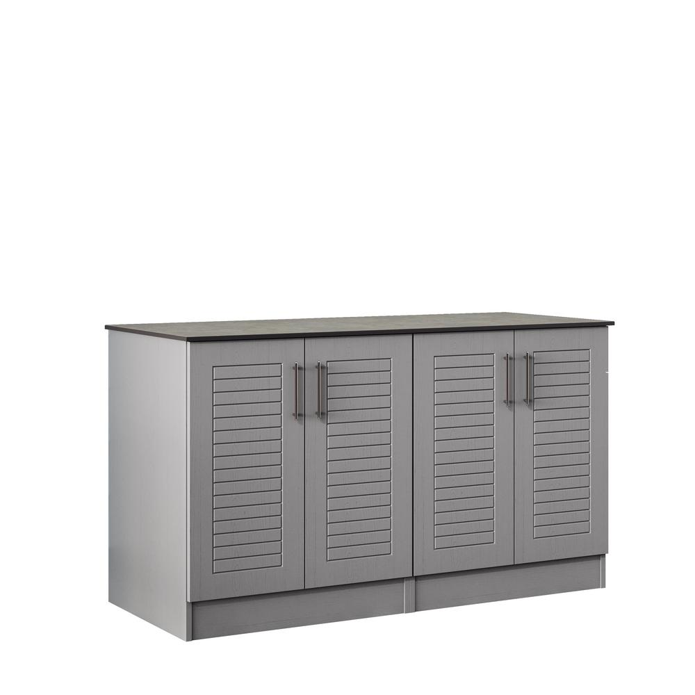Outdoor Wood Cabinets: WeatherStrong Key West 59.5 In. Outdoor Cabinets With