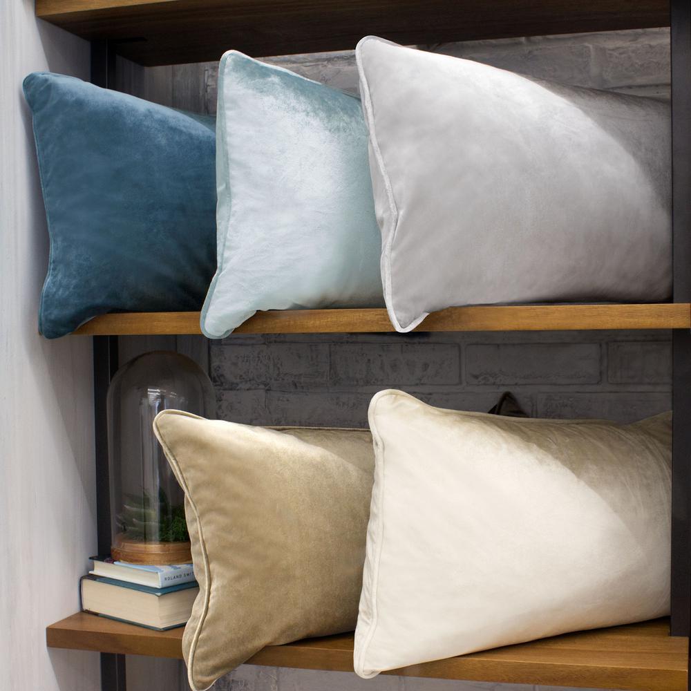 Lucas Taupe Lumbar Velvet 2-Piece Decorative Pillow Set