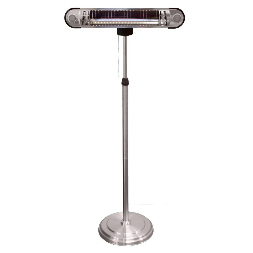 infrared patio heater. az patio heaters 1,500-watt adjustable infrared heat lamp electric heater
