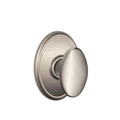 Siena Satin Nickel Passage Hall/Closet Door Knob with Wakefield Trim