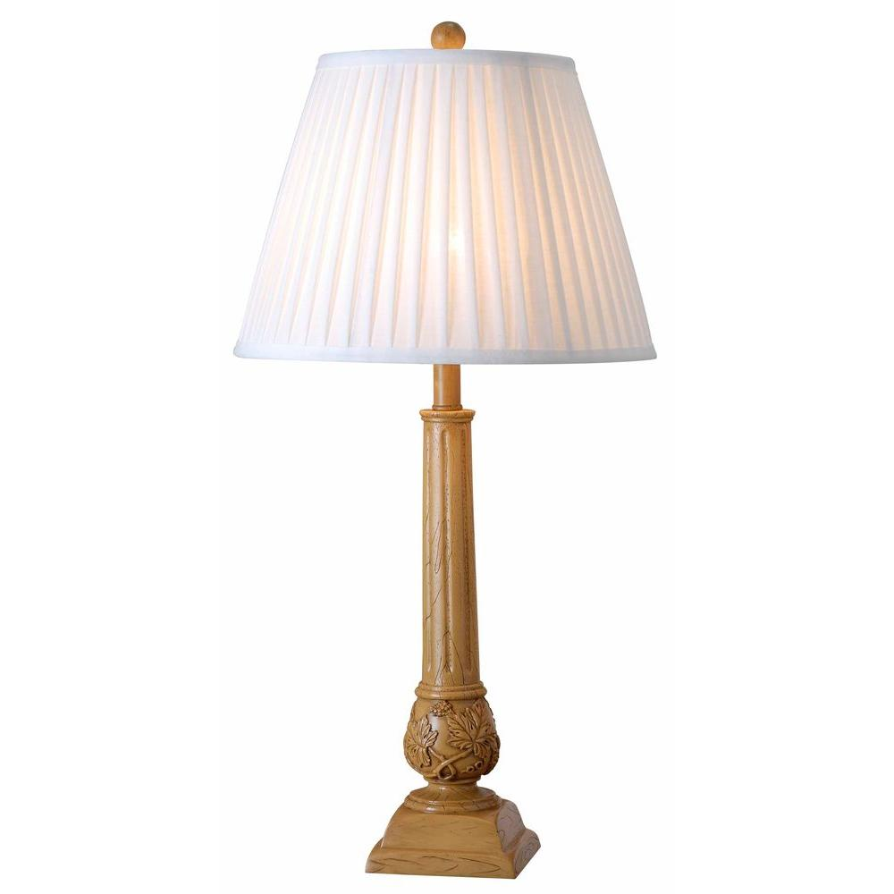 Kenroy Home Jobe 30 in. Natural Wood Grain Table Lamp