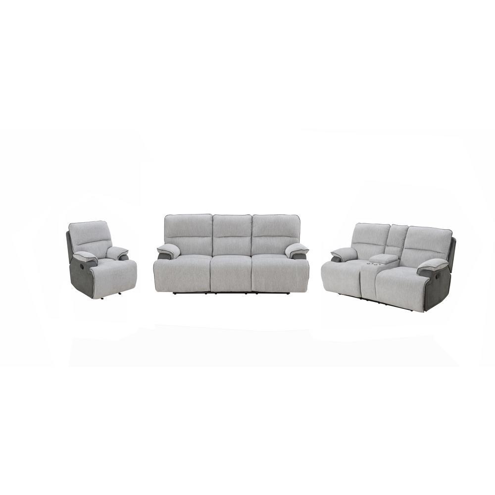 "Cyprus Grey 3-Piece Motion 40"" Sofa Set"