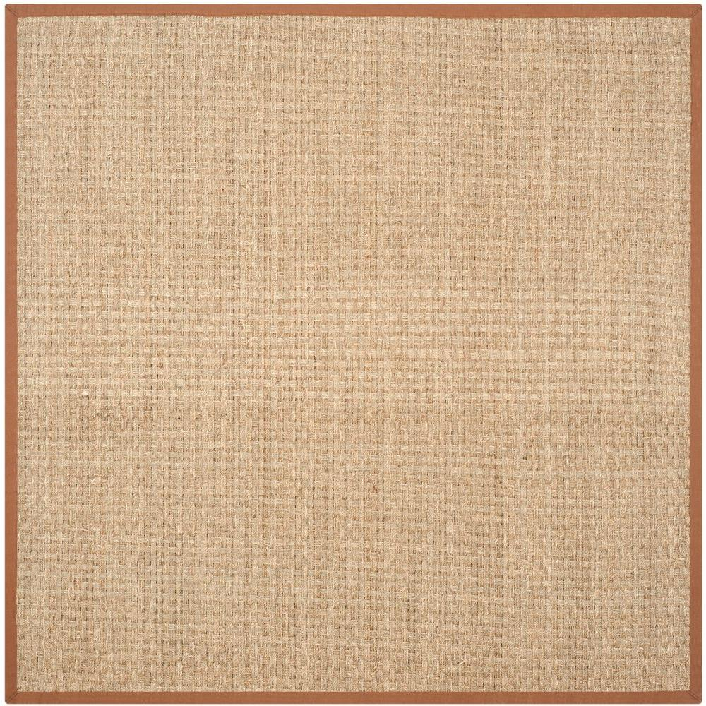 Safavieh Natural Fiber Beige Brown 10 Ft X 10 Ft Square