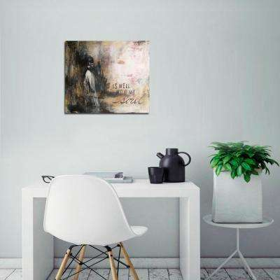 "34 in. x 46 in. ""It Is Well with My Soul Abstract"" by Christina Lovisa Printed Canvas Wall Art"
