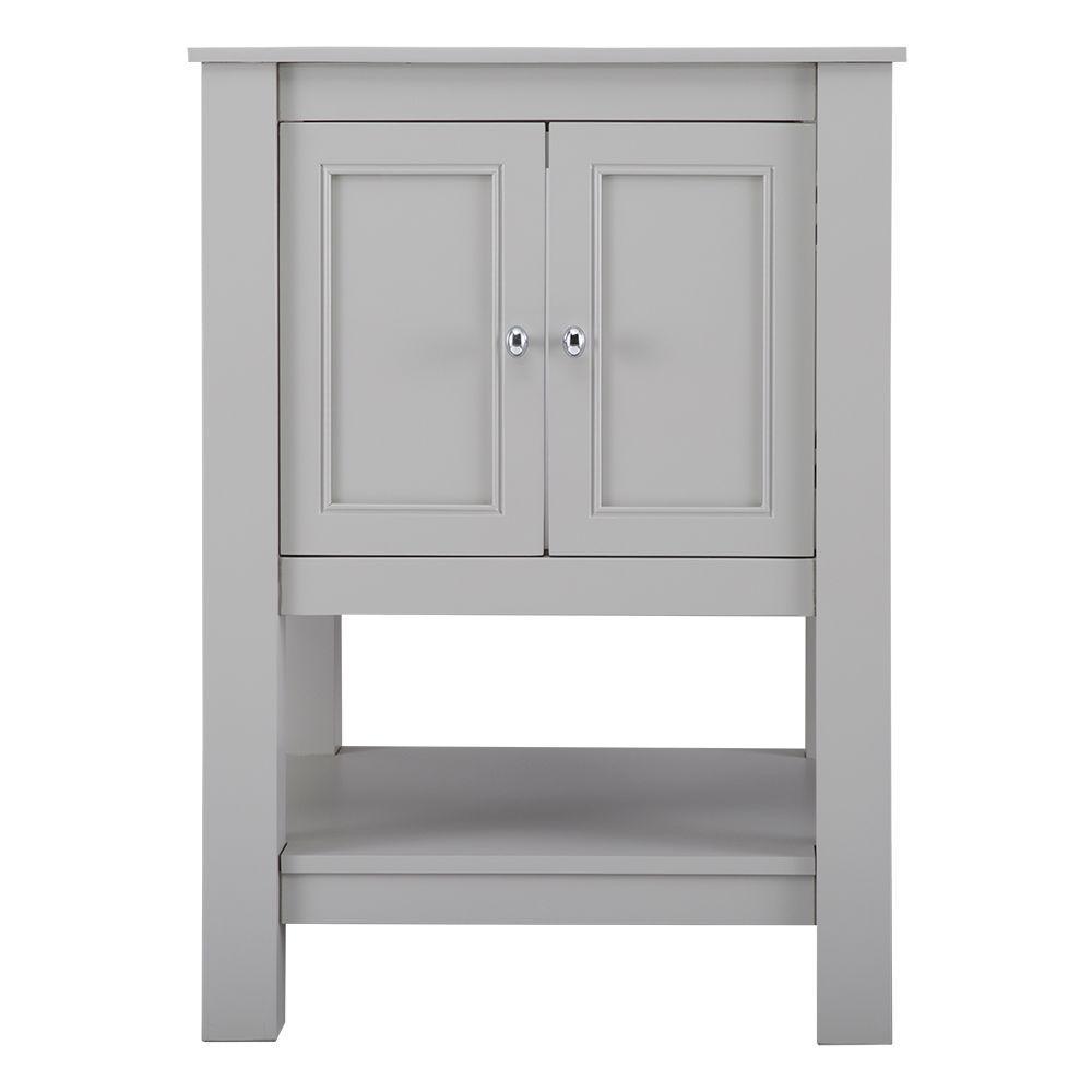 Gazette 24 in. W x 21.75 in. D x 34 in. H Vanity Cabinet Only in Grey