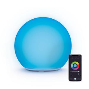 7 in. Multi-Color Smart Wi-Fi Portable LED Orb Lamp with Smart Wi-Fi Control