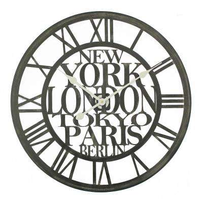 Cities of the World Analog Wall Clock