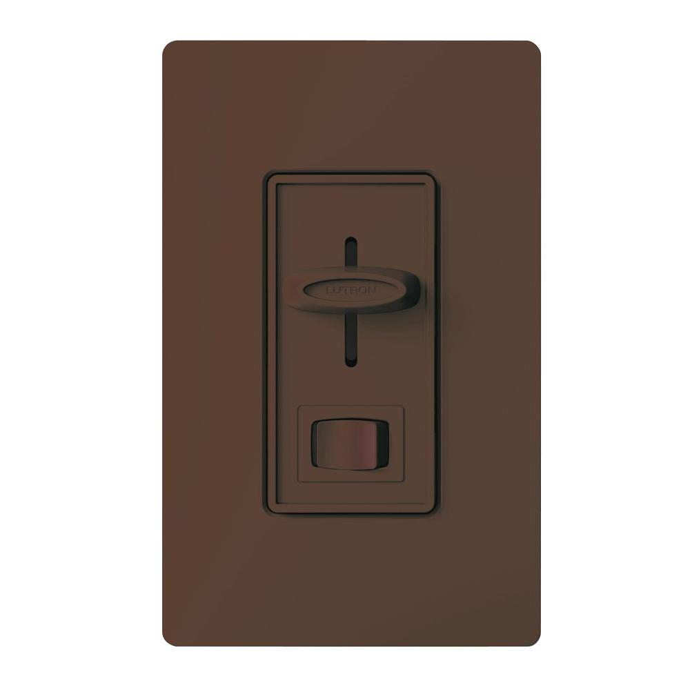 Lutron Skylark 300-Watt Single-Pole Electronic Low-Voltage Dimmer - Brown