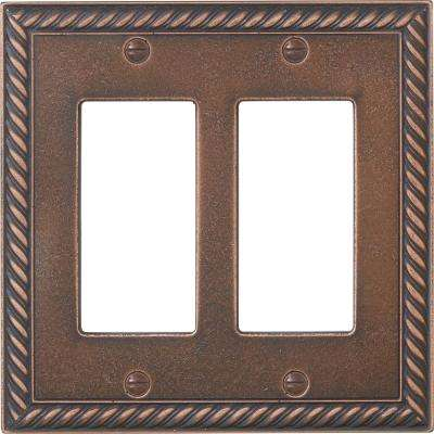 Bronze 2-Gang GFCI Wall Plate (1-Pack)