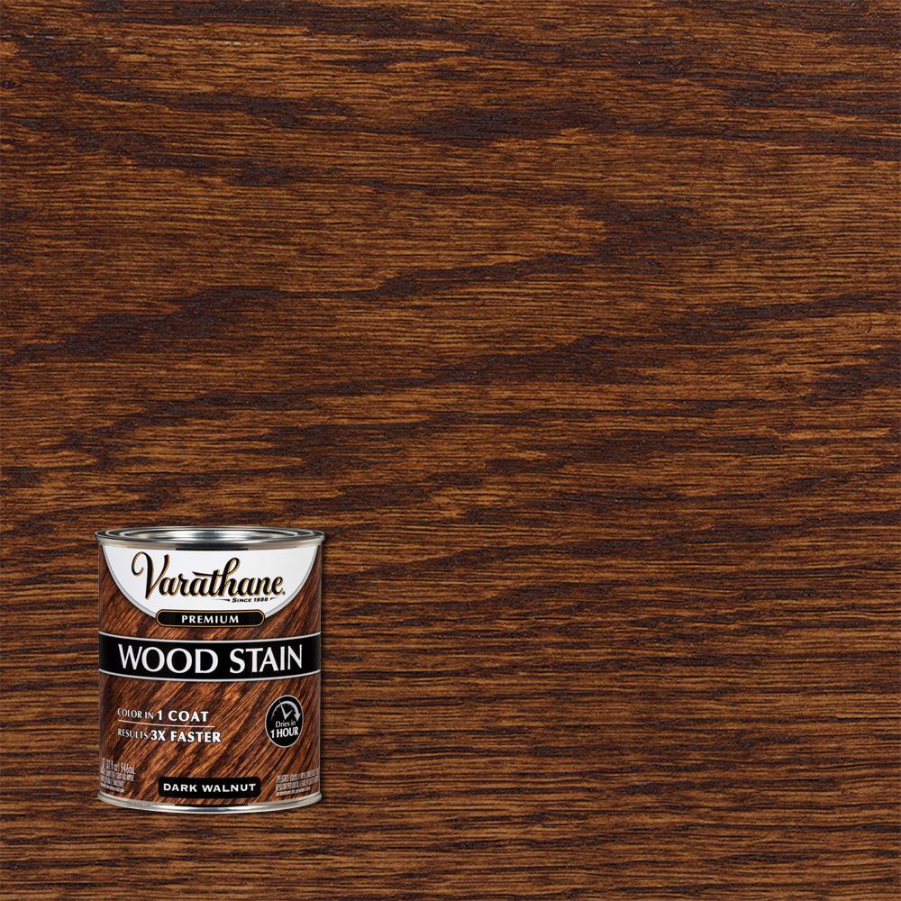 Varathane 1 qt. Dark Walnut Premium Fast Dry Interior Wood Stain