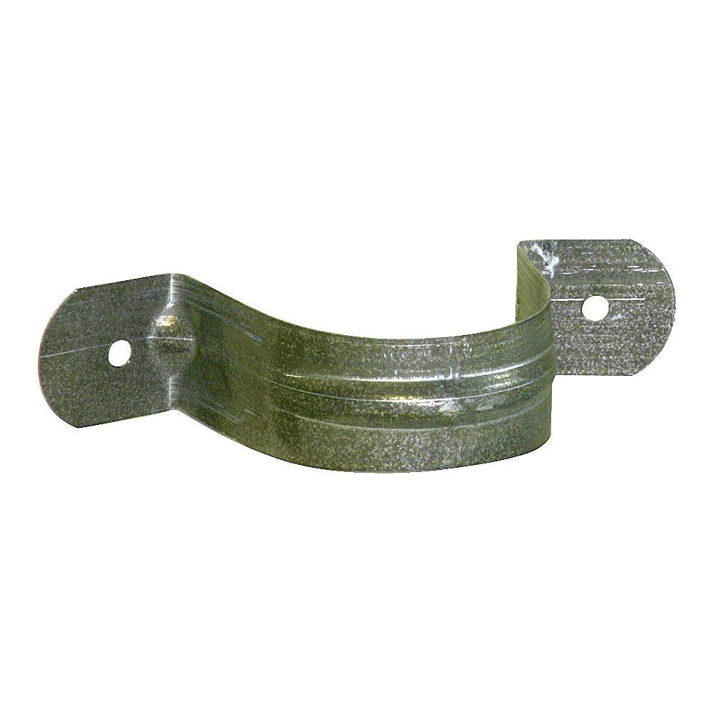 2 in. Round Downspout Strap Bonderized