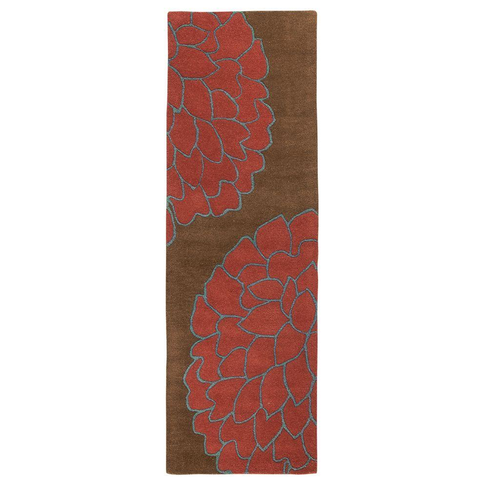 Home Decorators Collection Fantasia Brown and Terra 2 ft. 9 in. x 14 ft. Runner