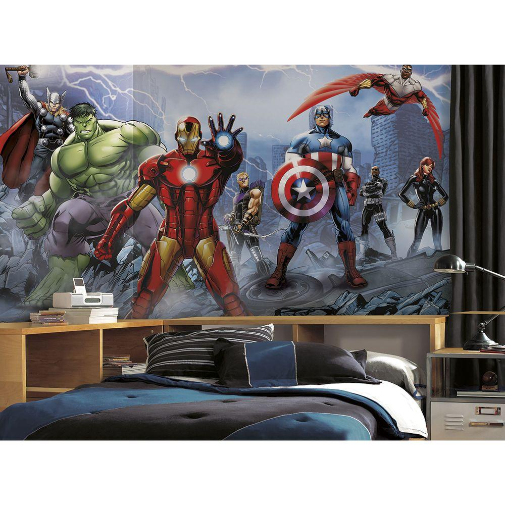 RoomMates 72 in. x 126 in. Avengers Assemble Ultra-Strippable Wall Mural