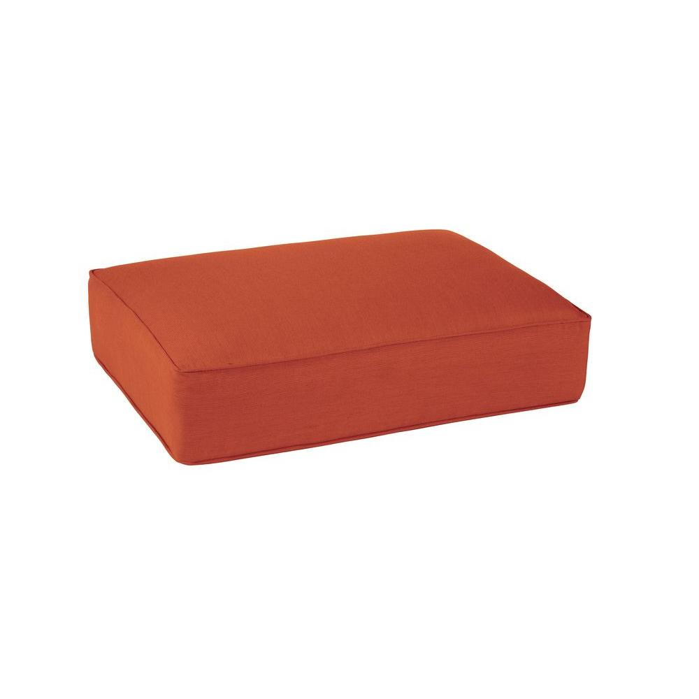 Northshore Replacement Outdoor Ottoman Cushion in Cinnabar