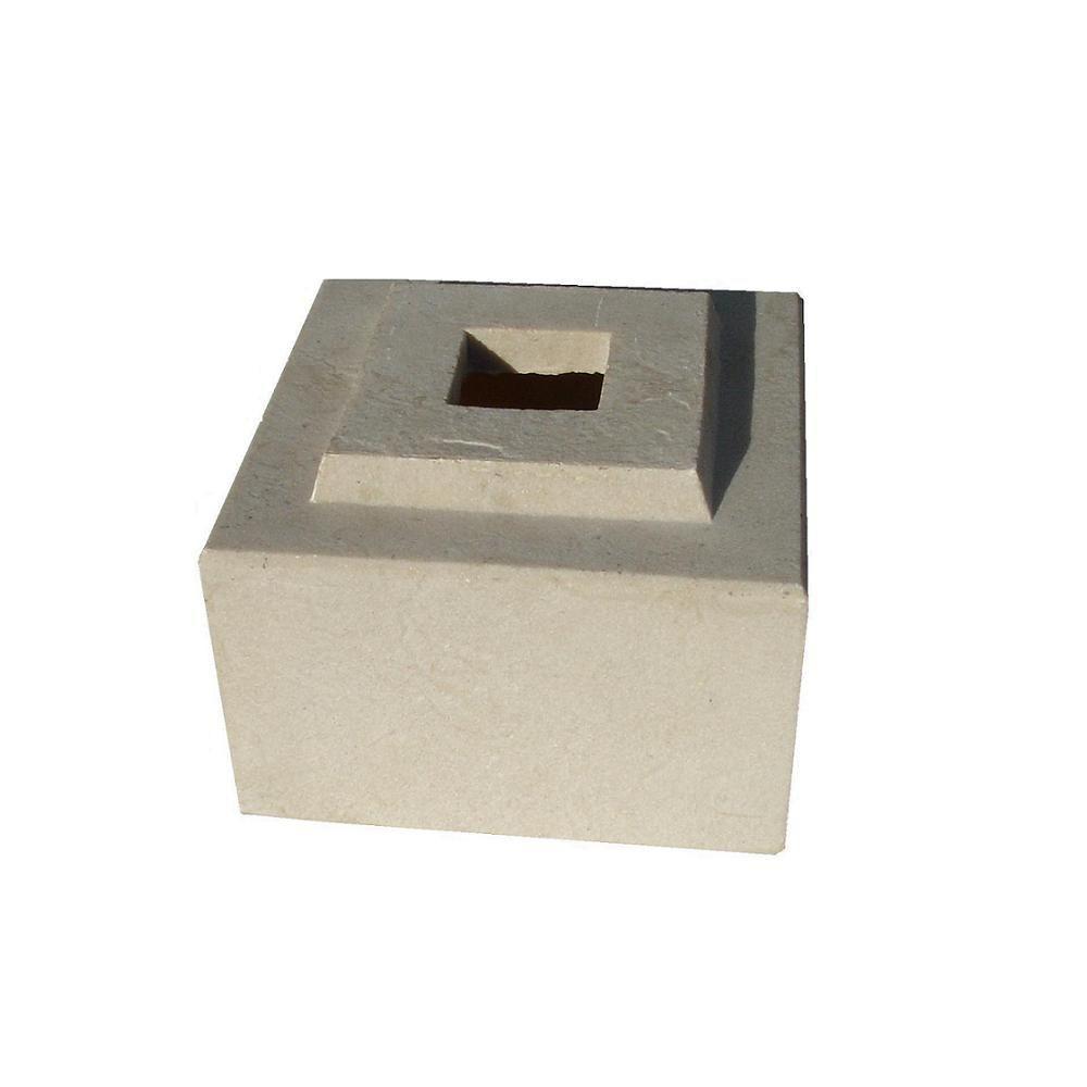 24 in. Planter Sandstone Cubic Pedestal Riser