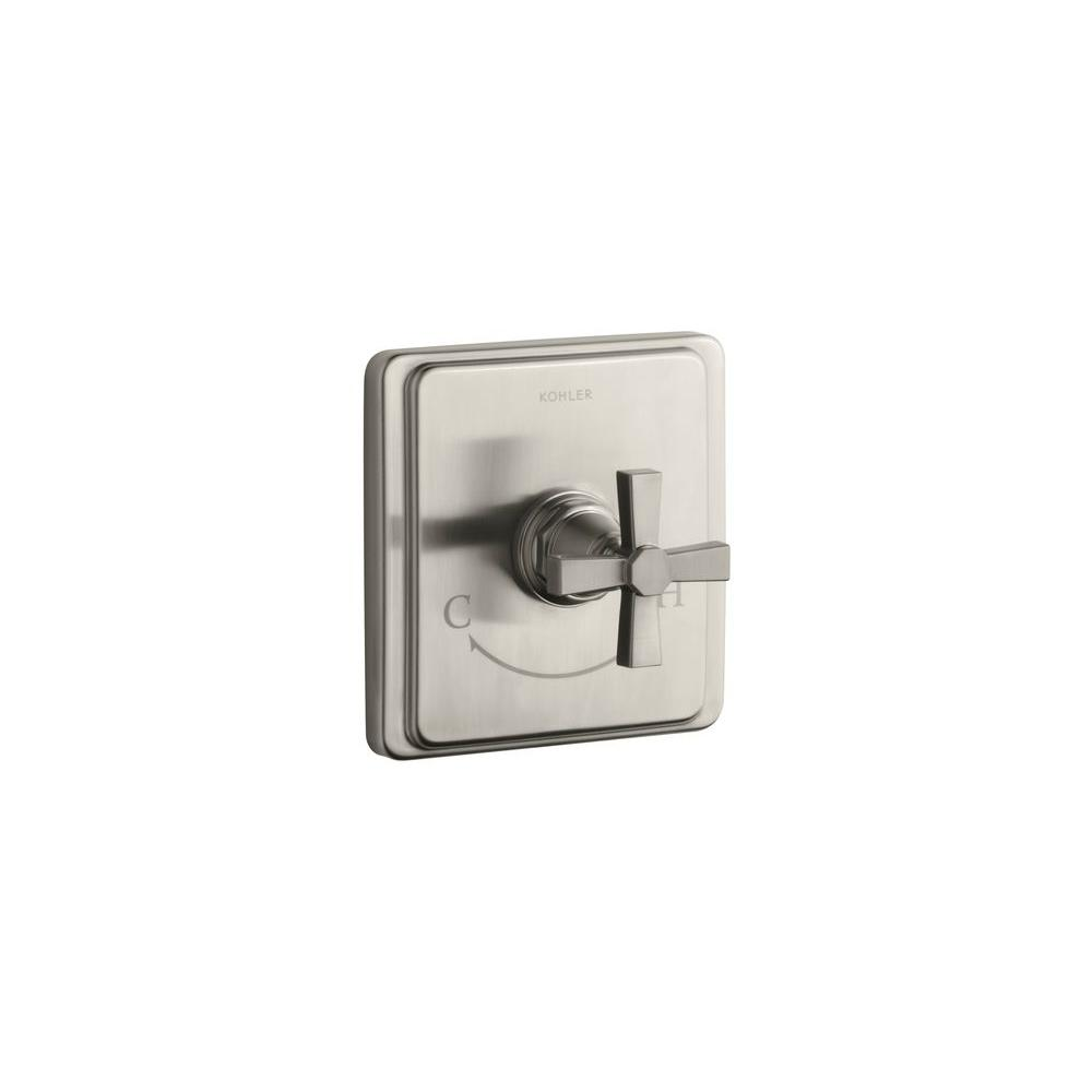 KOHLER Forte 1-Handle Valve Trim Kit in Vibrant Brushed Nickel (Valve Not Included)
