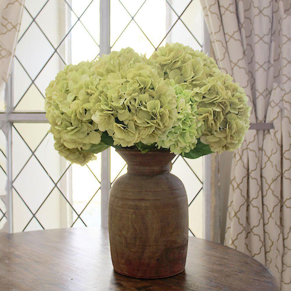 Indoor Green Hydrangea Stem (Set of 12)
