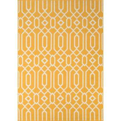 Baja Links Yellow 3 ft. 11 in. x 5 ft. 7 in. Indoor/Outdoor Area Rug