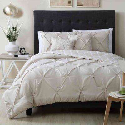 Madrid 5-Piece Taupe Queen Comforter Set