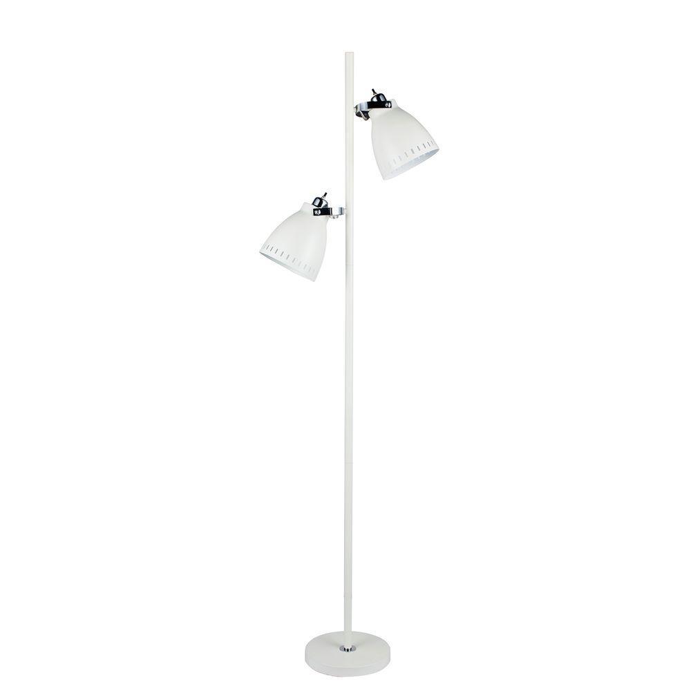 White Metal Tree Floor Lamp