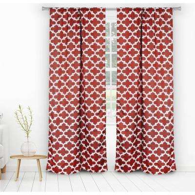 Lkyra Red Blackout Panel Pair - 38 in. W x 84 in. L in Ruby (2-Piece)