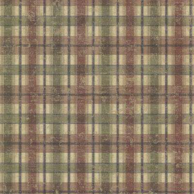 Nellie Brick Wooden Plaid Paper Strippable Wallpaper (Covers 56.4 sq. ft.)