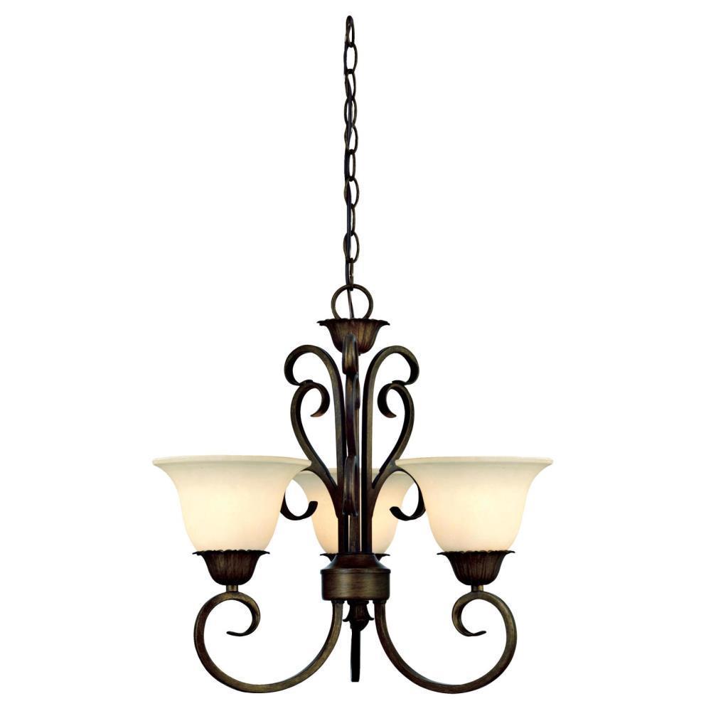 Westinghouse Westinghouse Regal Springs 3-Light Ebony Gold Chandelier