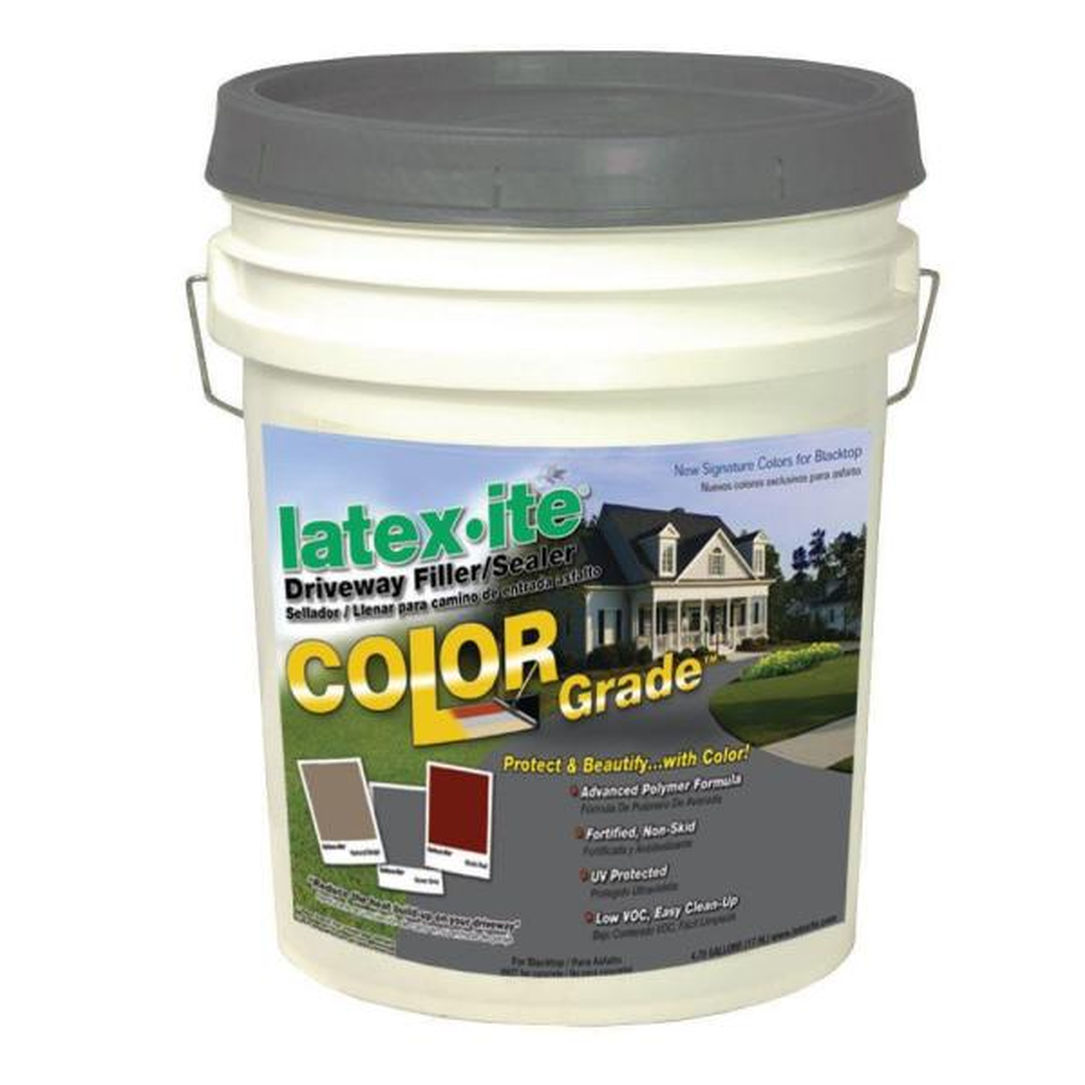 4.75 Gal. Color Grade Blacktop Driveway Filler/Sealer in Dover Grey