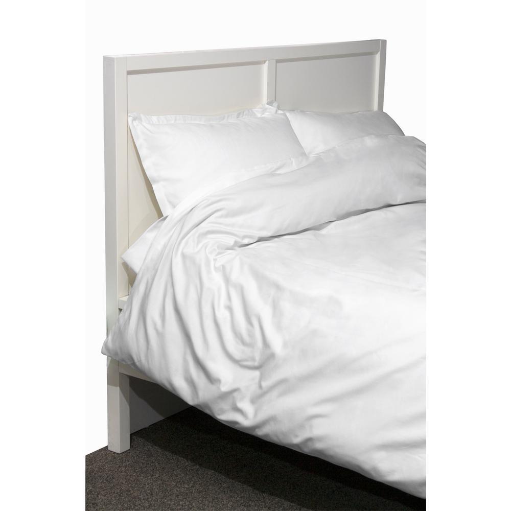 600 Twill 3-Piece White King Cotton/Polyester Duvet Set